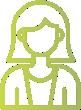 ícone verde para simbolizar uma mulher